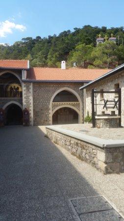 Pedoulas, Chipre: Binnenaanzicht van tafereel van het klooster