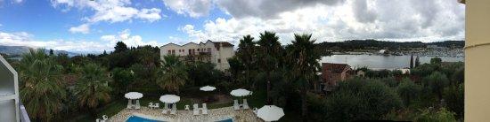 Kontokali, Grecia: Pnoramafoto vanaf balkon