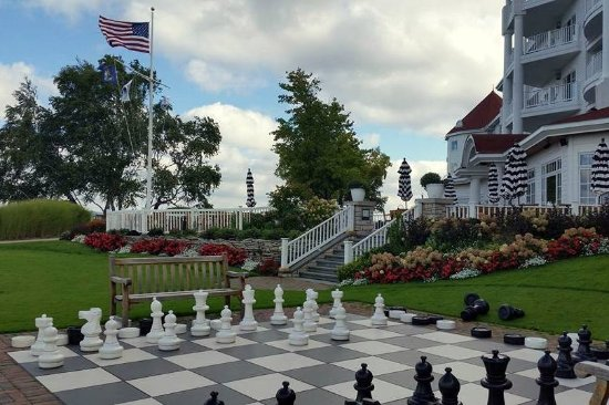 Petoskey, MI: I love the chess and checker set on the grounds