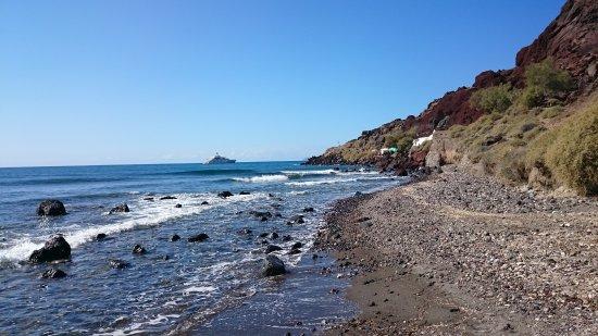 Κοκκινη παραλία Φωτογραφία
