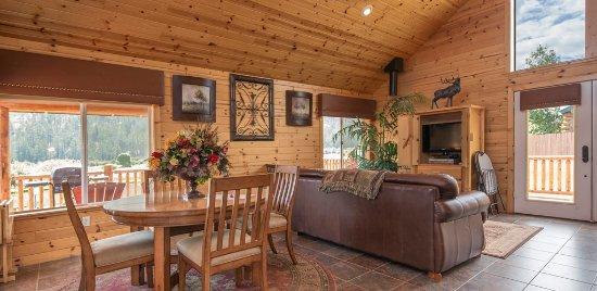 Greer, AZ: Interior of Cabin 281. Sleeps 6. Learn more: