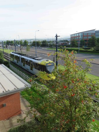 Metrolink passing by.