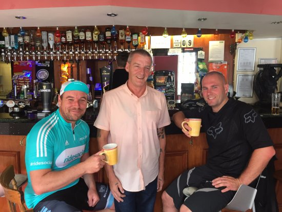 Aldborough, UK: a Coffee with Paul The Lanlord at the George & Dragon