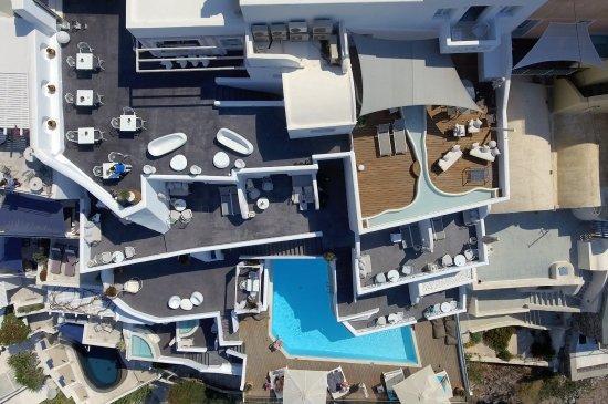 Aerial photo of Athina Luxury Suites