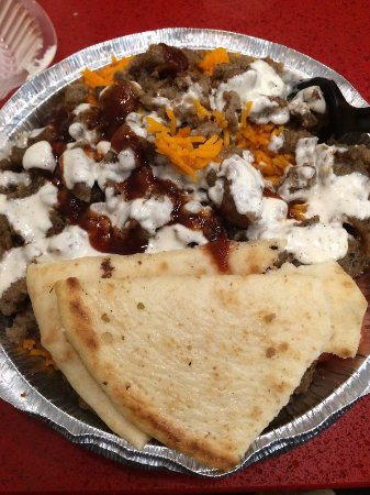 Vienna, VA: Rice and gyro bowl