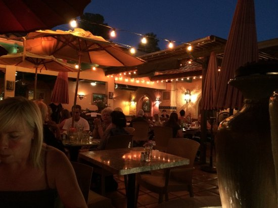 Dusk on the patio at Agave Maria's