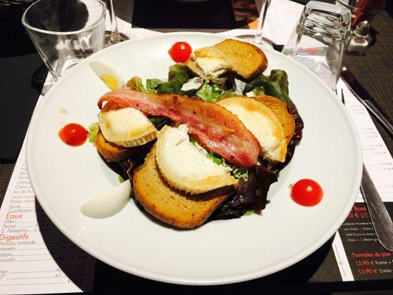 Houdemont, Francia: Salade de Chêvre chaud