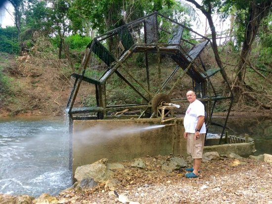 Belmopan, Belice: Jerry & the water source for the property!