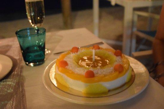 Ambre Resort & Spa: My vegan Tembleque 50th birthday cake....