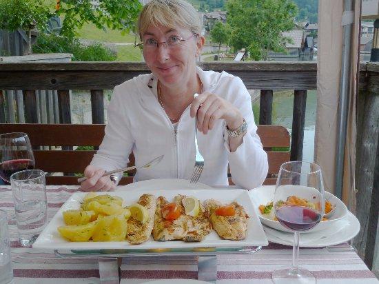 Grundlsee, Austria: Die Fischplatte...