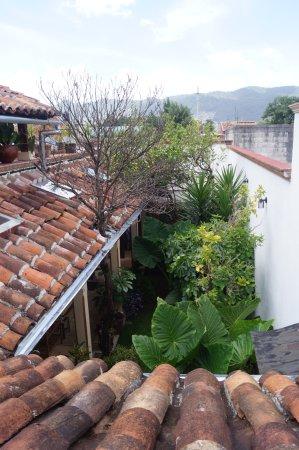 Hotel Posada El Zaguan: Vista al jardín desde terraza
