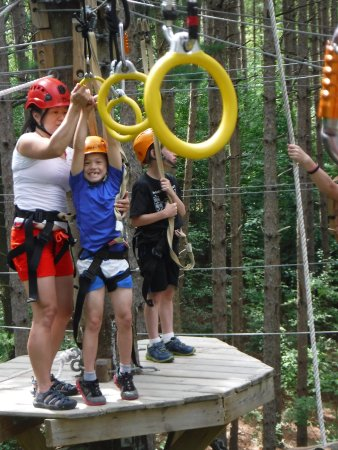 Lake Geneva, WI: Olympic Rings on the High Ropes Excursion