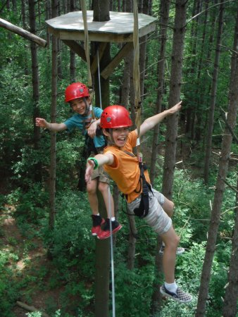 Lake Geneva, WI: Ships Prow on the High Ropes Excursion