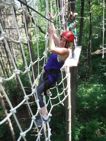 Lake Geneva, WI: Cargo Net on the High Ropes Excursion