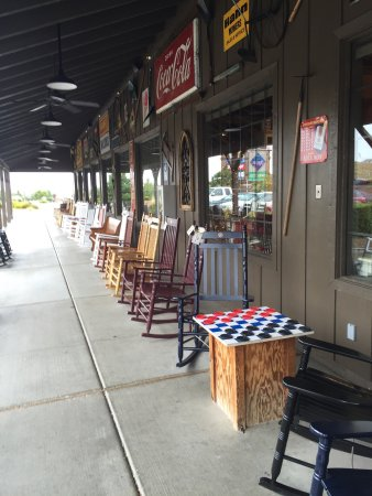Prescott Valley, AZ: Outdoor rocking chairs & checkers. Just like Granny's house!