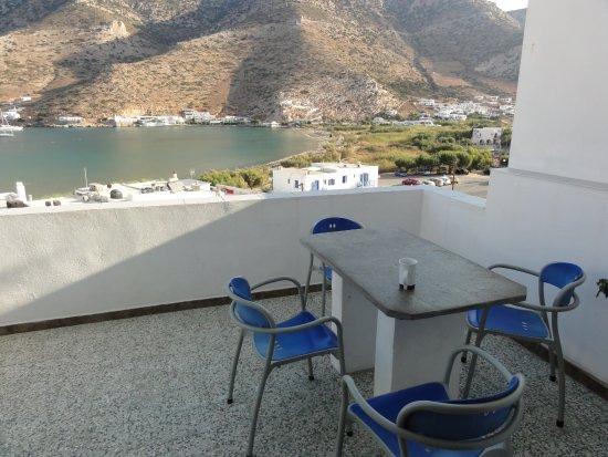 Simeon Rooms & Apartments: terrasse donnant sur la chambre