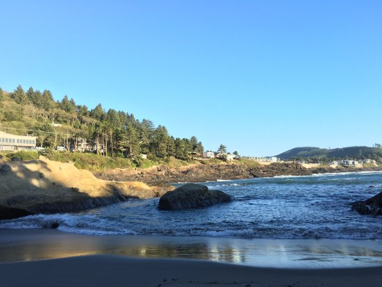 Inn at Arch Rock: View from the private beach.