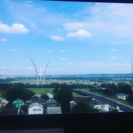 Sheraton Pentagon City Hotel: vue de ma chambre
