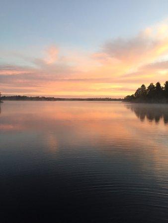 Crane Lake, MN: Morning view at Depth Finder View site Namakan Lake