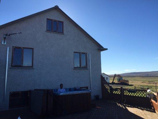 Reykholt, Islandia: in the hot tub