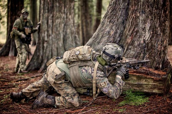 Surrey, Canada: Airsoft players in Panther Airsoft Event!