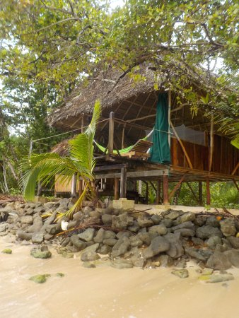 Al Natural Resort: Our hut from the sea.