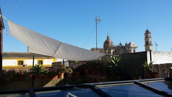 La Fonda Barranco: roof-top terrace for breakfast