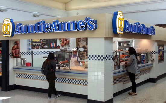 Harwood Heights, IL: Auntie Anne's in the center concourse at the Harlem Irving Plaza