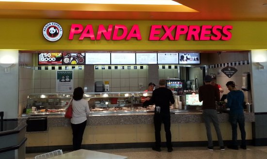 Norridge, IL: Counter of Panda Express in the Food Court at Harlem Irving Plaza