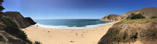 Gray Whale Cove State Beach: This is a panorama I shot with my iPhone.