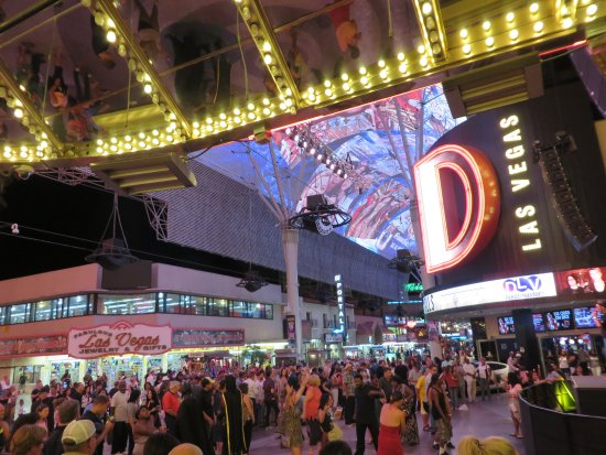 Fremont Street outside The D Picture of The D Casino Hotel Las