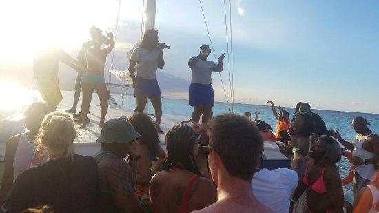 Cool Runnings Catamaran Cruises Jamaica: 20160924_165544_large.jpg