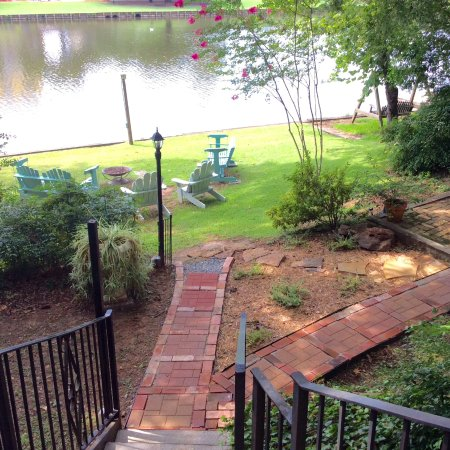 Natchitoches, LA: View from steps leading to the River