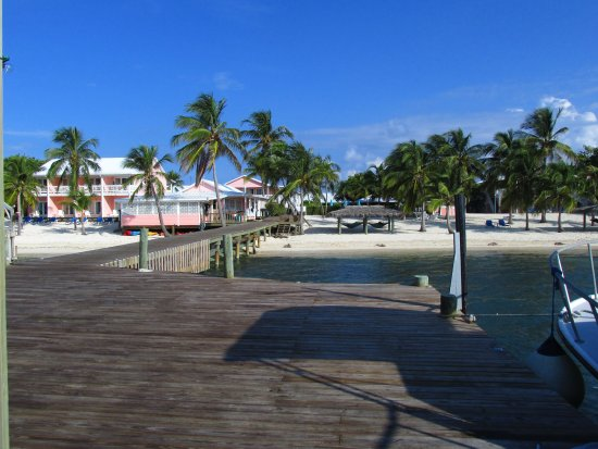 Little Cayman: View of Resort from the dock
