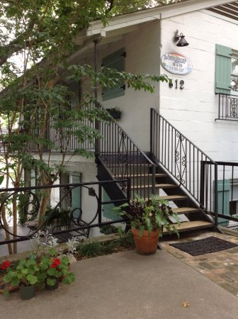 "Natchitoches, LA: Steps leading to ""Treehouse Suite"""
