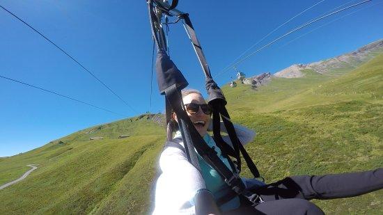 Grindelwald, Switzerland: Selfie on the first flyer