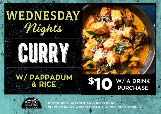 the amaroo tavern great value weekly food specials