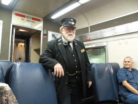 Peninsula, OH: Conductor on the train, all are volunteers