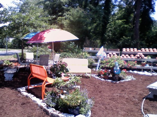 White Stone, VA: Enjoy your sweet treat in our garden area.