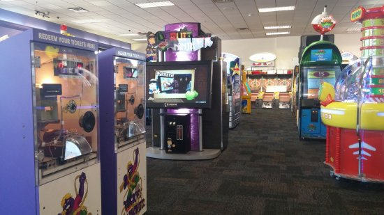 Whitby, Canada: Chuck E Cheese - various arcade games.
