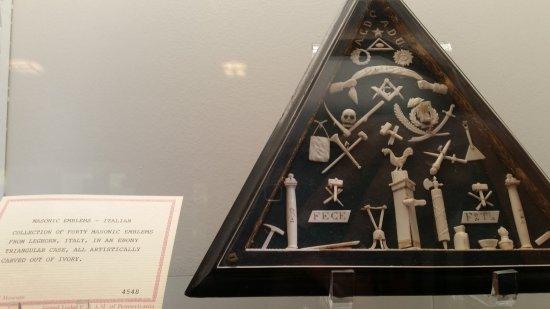 Masonic Symbols In The Museum Picture Of Masonic Temple