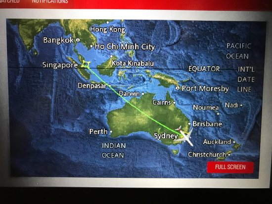 Our flight path to Singapore Picture of Qantas TripAdvisor