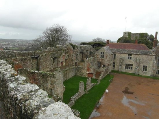Newport, UK: Into the grounds - from the wall.