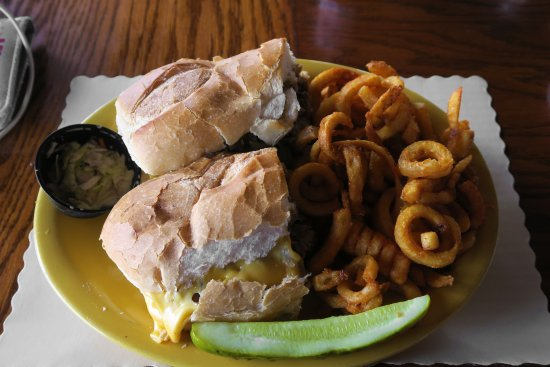 Monroe, NY: Cheesesteak with curly fries