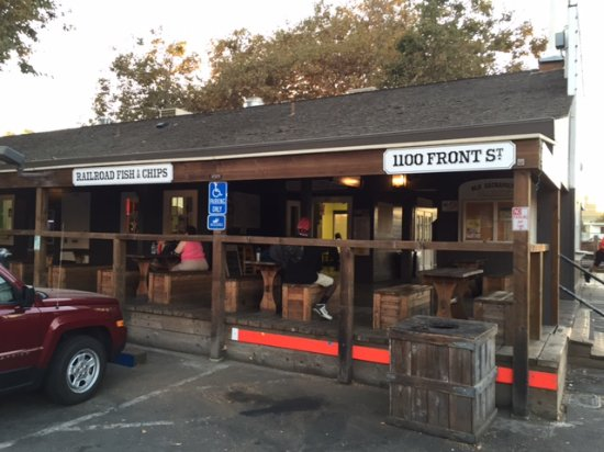 Railroad Fish & Chips: Outdoor seating