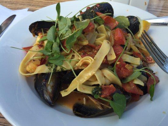 Frankston, Australia: seafood tagliatelle