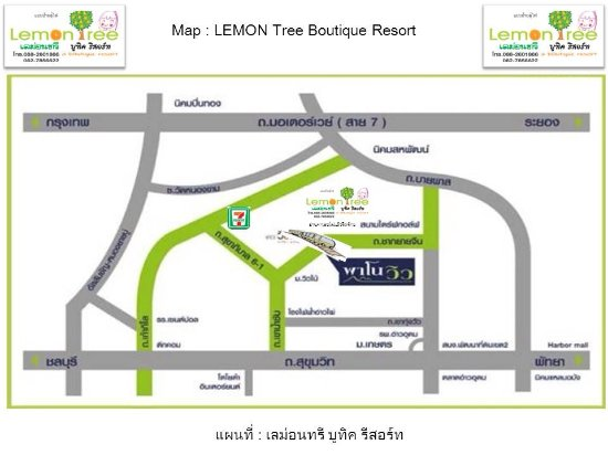 map Picture of Lemon Tree Boutique Sriracha Si Racha TripAdvisor