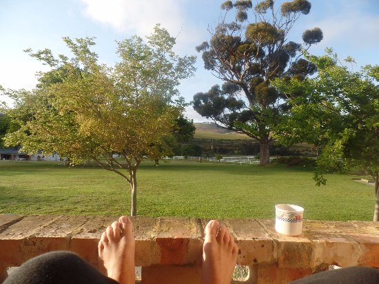Stanford, Sudáfrica: Coffee with a view!