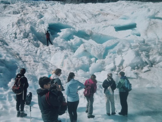 Fox Glacier, Nueva Zelanda: Hiking on the glacier!