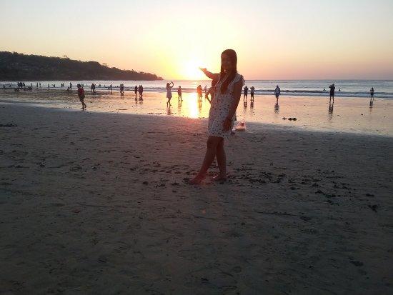 Jimbaran, Indonesië: sunset @pantai jumbaran